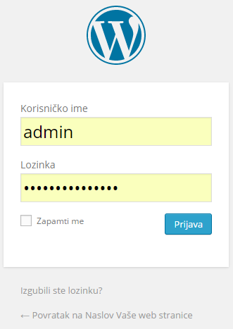 wordpress administracija